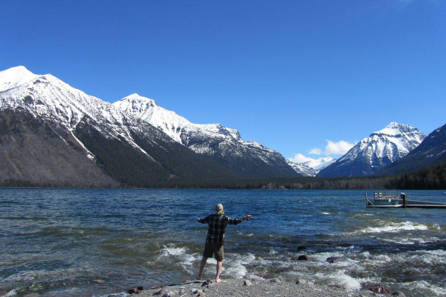 Mcdonald lake glacier to yellowstone for Fly fishing glacier national park