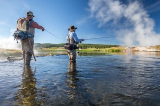 Guided fishing trips Firehole River