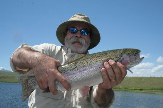 rainbow trout fly fishing montana guided trip yellowstone national park