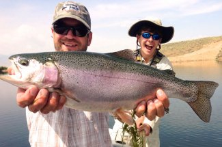huge rainbow trout guided montana adventure fly fishing
