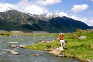 montana mountains fly fishing guided trip yellowstone national park