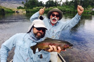 guided rainbow trout fly fishing montana