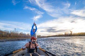 drift boat mountains fly fishing montana guide