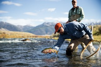 catch and release trout guided trip montana fly fishing