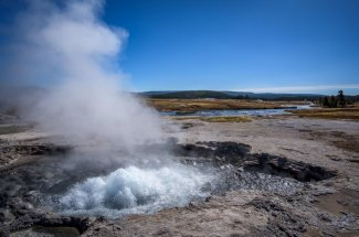 geyser yellowstone national park fly fishing montana