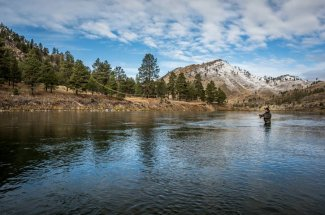 montana fly fishing mountains float trip guided