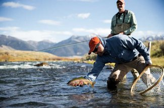Wade Fishing the Madison River